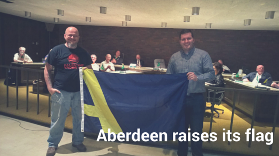 A NEW FLAG IN THE SKY OF ABERDEEN