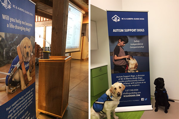 BC & Alberta Guide Dogs Retractable Banners