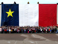 Large Acadian Flag in New Brunswick