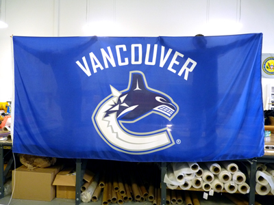 6' by 12' Canucks flag