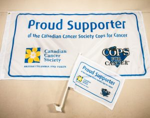 2018 Cops for Cancer custom flag and car flag